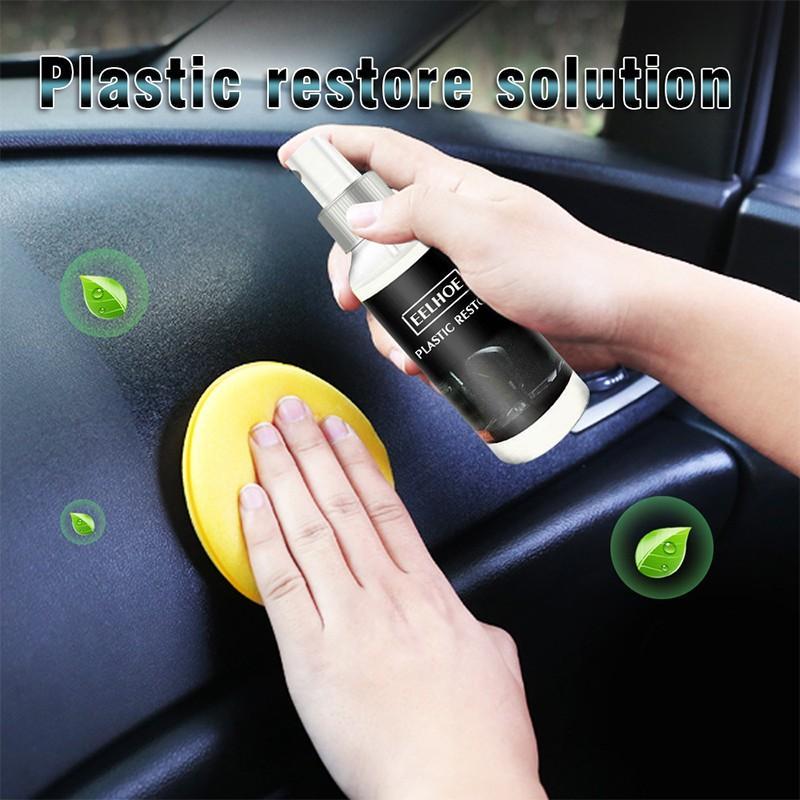 30ml, agente restaurador de cera de plástico para coche, piezas de plástico para coche, agente retocar, reparación de cera Interior, Panel de plástico para coche, cuidado de plástico