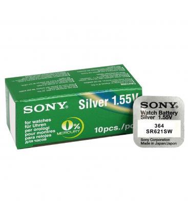 Lâminas de boton sony bateria original oxido de plata sr621sw blister 10x unidades