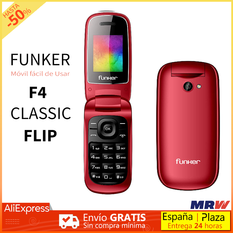 Funker F4 Classic Flip phone with Cover Big keys and Strong Volume Camera FM Radio for older people