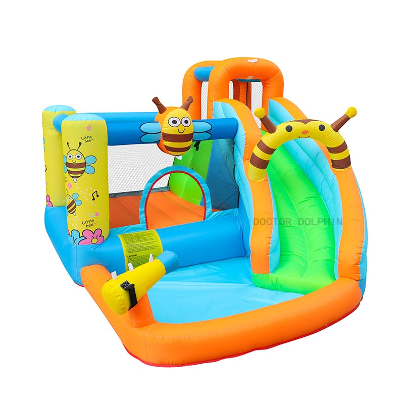 Bee Inflatable Water Slide Pool Bounce House Aquapark Bouncer Jumping Bouncy Castle for Kids With Blower yard bouncy castle inflatable jumping castles 3 5 3 2 7m trampoline for children house inflatable bouncer with slide blower