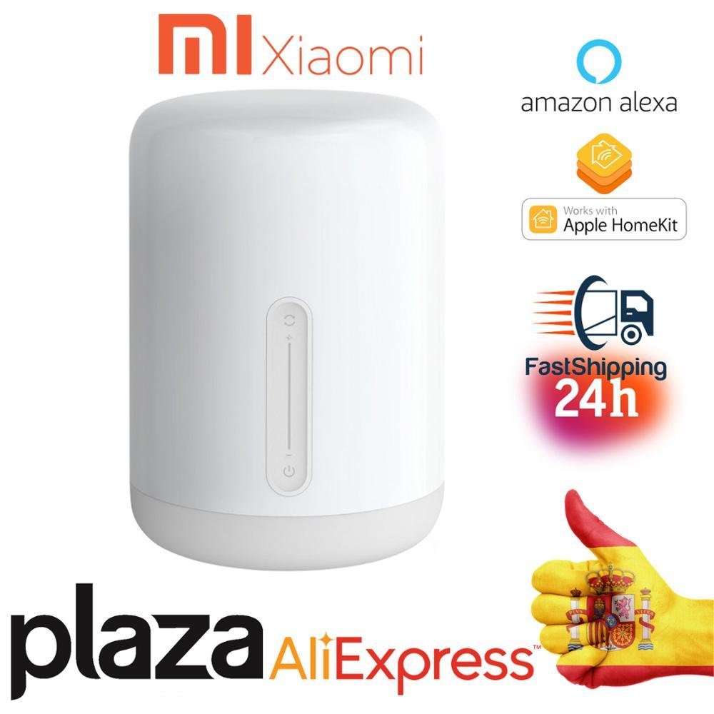 Lámpara de mesa mesilla Xiaomi mi jia 2 Interruptor táctil de control de voz de luz inteligente mi aplicación bombilla Led