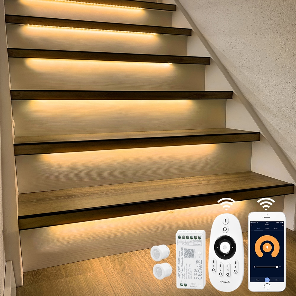 15 Steps 1.3M Stair motion sensor light strip with Tuya App WIFI LED Dimmer-Plug and Play enlarge