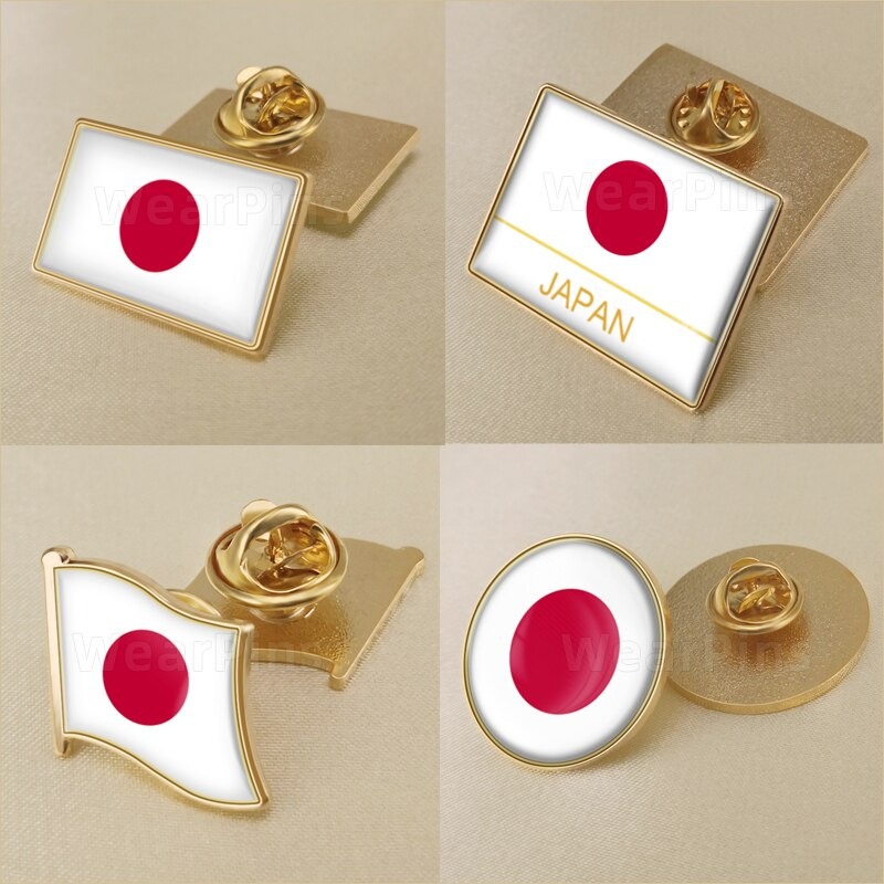 Japan/Japanese Flag Brooch/Badges/Lapel Pins