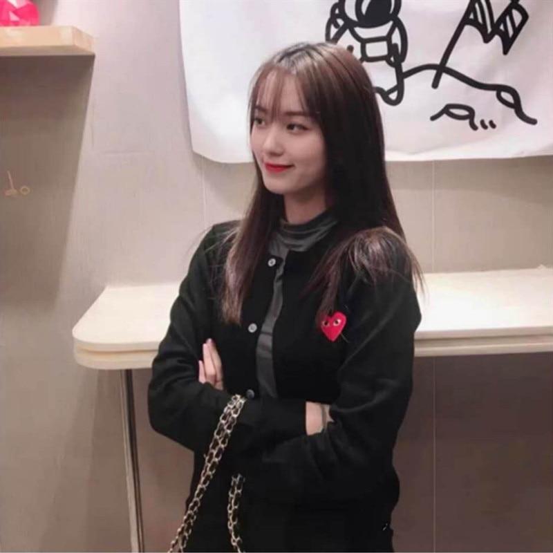 Женский кардиган с круглым вырезом, 7 цветов, кардиган в японском стиле с сердечками и глазами, топы 2021, вязаный свитер с вышивкой, блузка, опт...