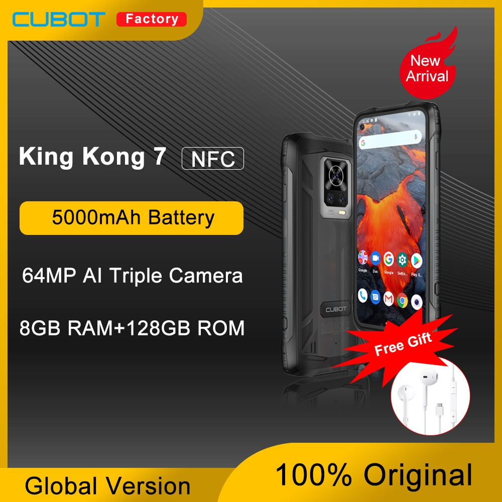 New Cubot KingKong 7 Rugged Smartphone IP68 & IP69K Waterproof 5000mAh 6.36