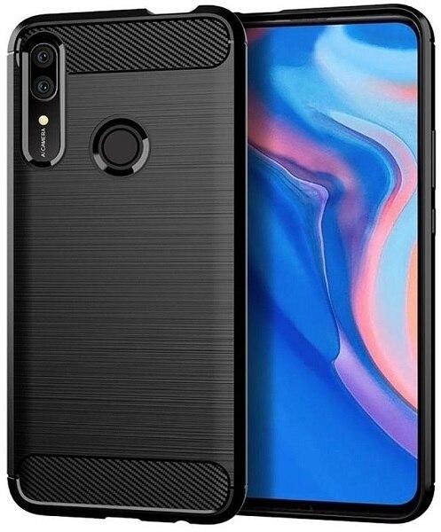 Funda Huawei P inteligente Z (Y9 primer 2019 rejoy10 plus 9x premium) color negro (negro) de carbono serie caseport
