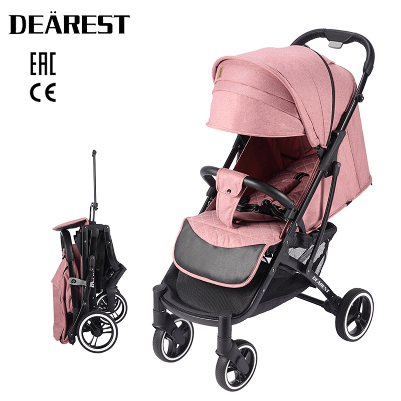 Dearest 818 Plus Baby Stroller New 2021 Foldable With Wind Shield Foot Cover Four Wheels Foldable Free shipping in Russia enlarge