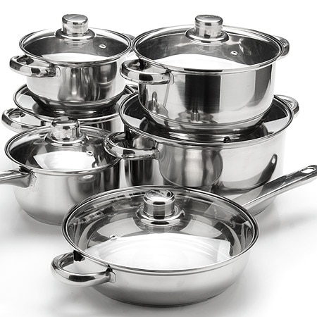 Посуда Mayer & Boch 12пр(7+3,6+2,8+1,9+к1,9+ск4л) мет руч 6071