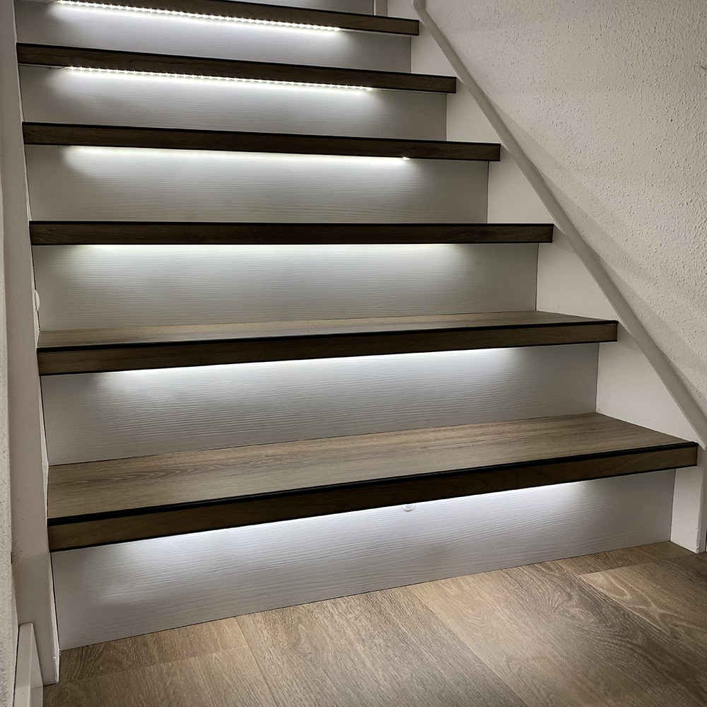 1.3M 14 Steps Bright White 4000K Stair light strip-Plug and Play