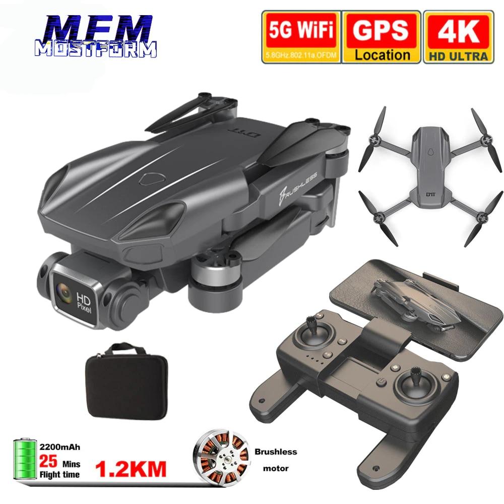 RC Quadcopter Drone camera HD 4K GPS Professional 1.2KM Long Distance 5G FPV 25mins Smart follow Brushless Foldable Dron H9MAX