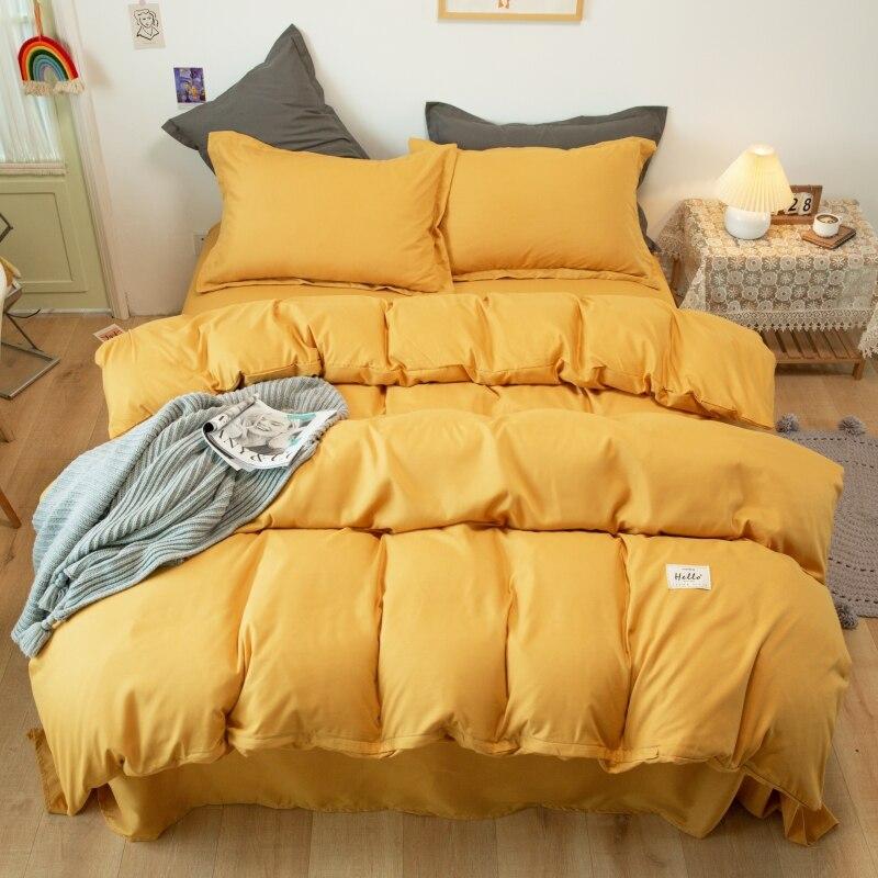 مجموعة شراشف بألوان صاخبة اليابان نمط البساطة المفارش غطاء لحاف 4 قطعة واحدة مزدوجة التوأم الملكة الملك 220x240 حاف مجموعة غطاء