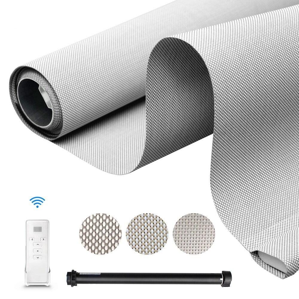 Рулонные жалюзи с двигателем для штор, работает с Google Home Alexa 5% Sunshine, Wi-Fi, умные жалюзи