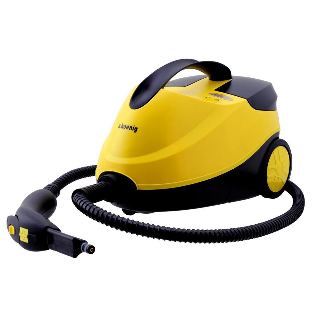 H.Koenig NV6200 Limpiador a Vapor, Vaporeta, 2000 W, 4 Bares, Autonomía de 45 min, Capacidad de Agua de 1,5 L, Compartimento Int