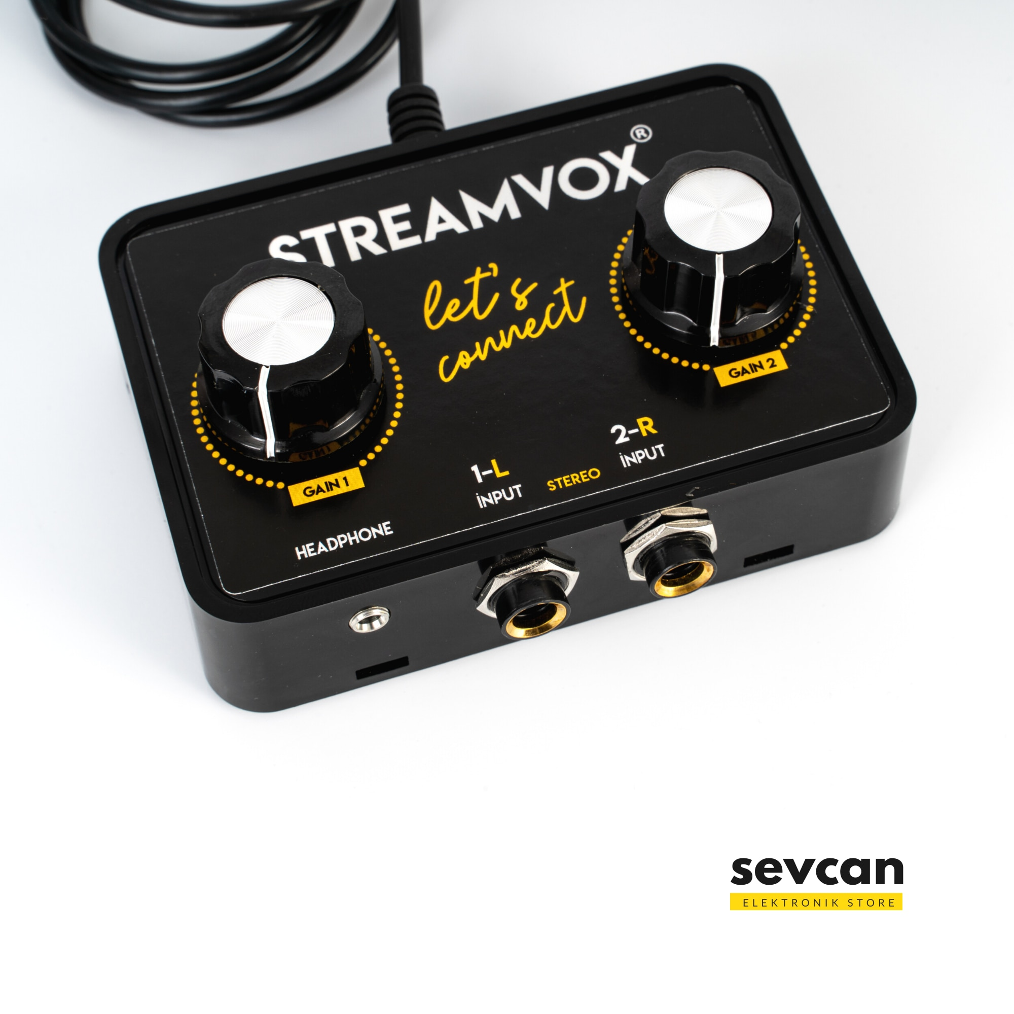 Streamvox Portable Audio Interface For Live Streaming Instagram Recording on All Phones & Tablet from Mixer Setup Sound Card SV3