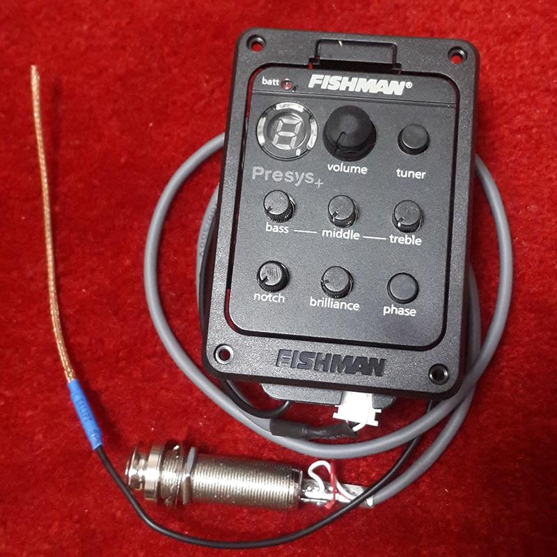 التقاطات الغيتار Fishman PRESYS + على متن Preamp/EQ مع موالف LED للجيتار الصوتية