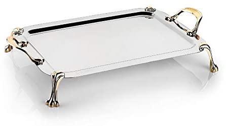 Schafer Tablett متوسطة الصلب صينية-1 قطعة-النحاس