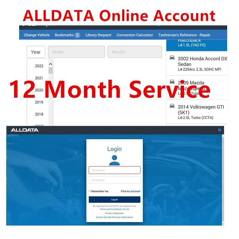 Alldata-Software de reparación de automóviles, servicio de 12 meses de cuenta en...
