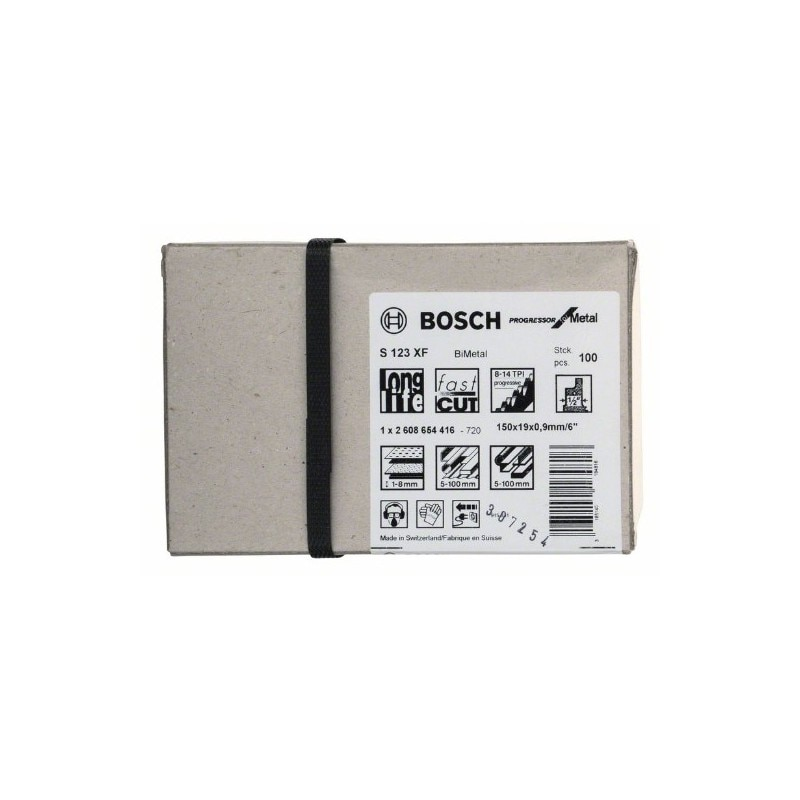 Bosch 2608654416 Hoja para sierra sable S 123 XF Progressor Metal 100uds