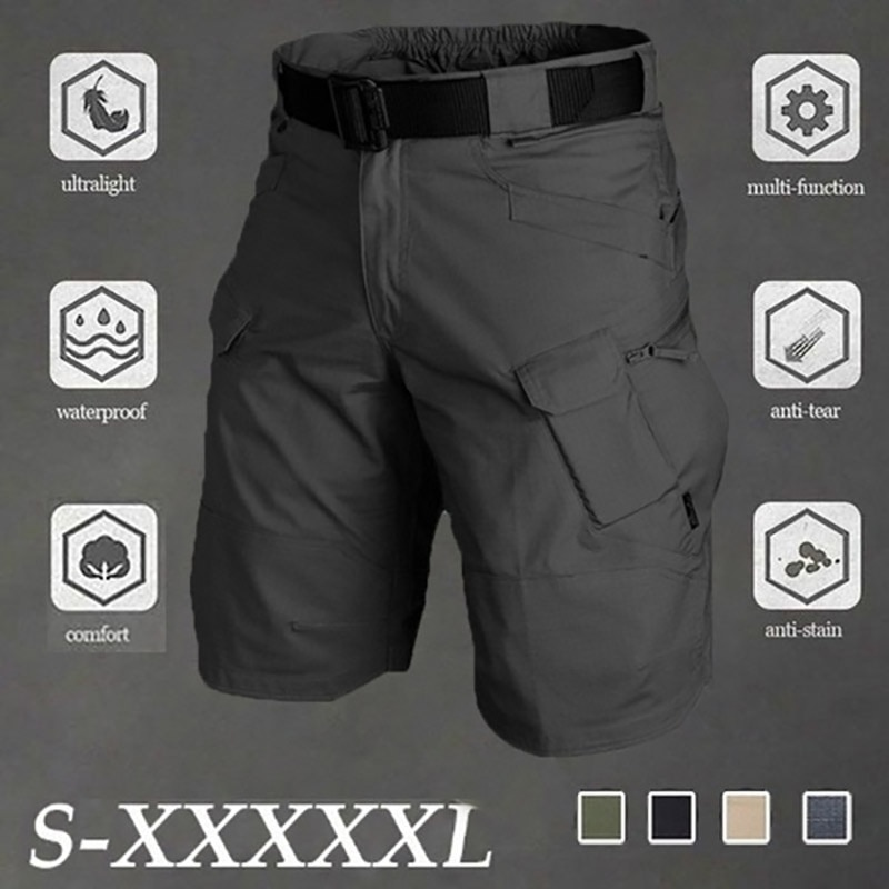 Big Size 5XL Classic Tactical Shorts Men Outdoor Waterproof Military Camouflage Multi-pocket Mens SWAT Cargo