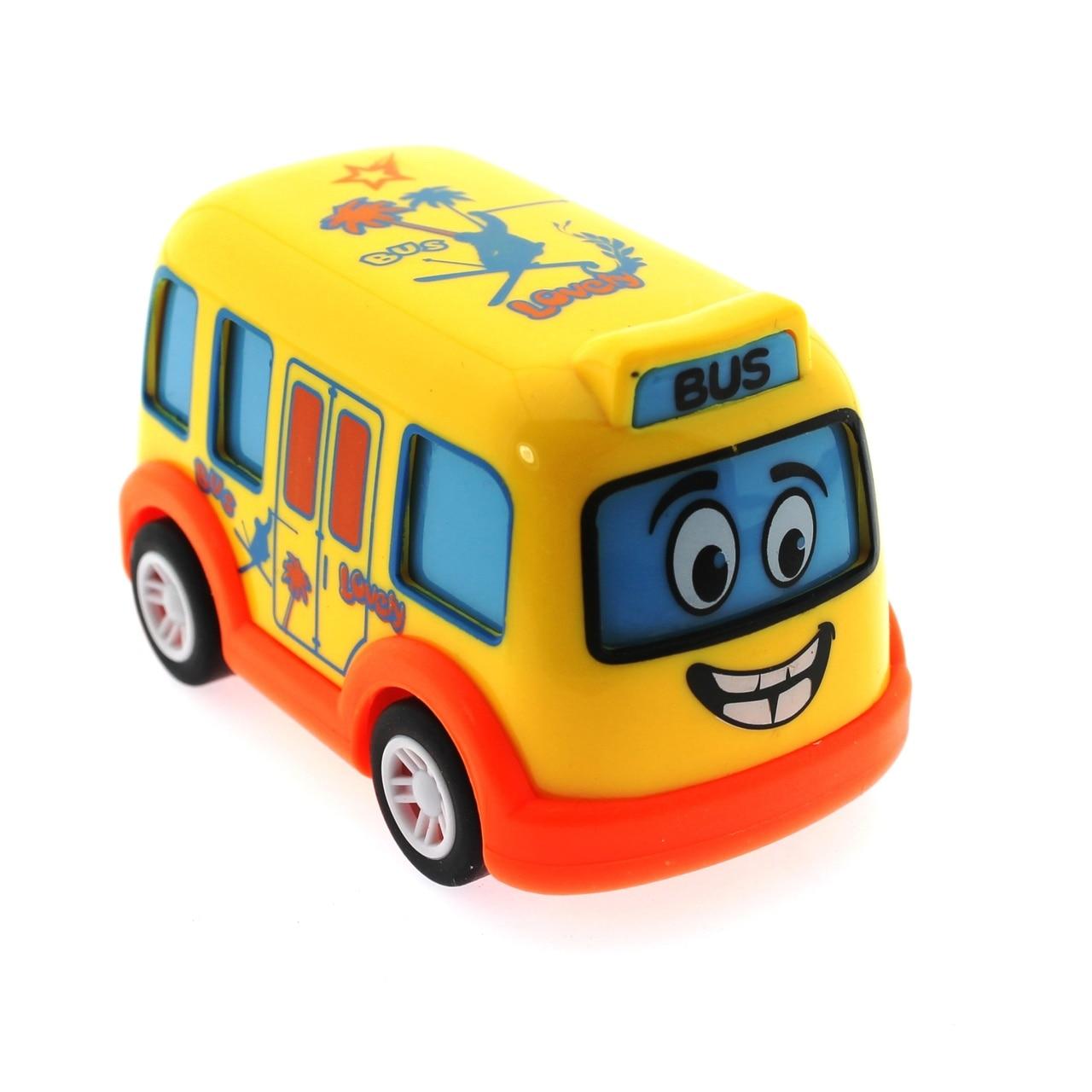 Comprobar la gota Mini lindo autobús amarillo