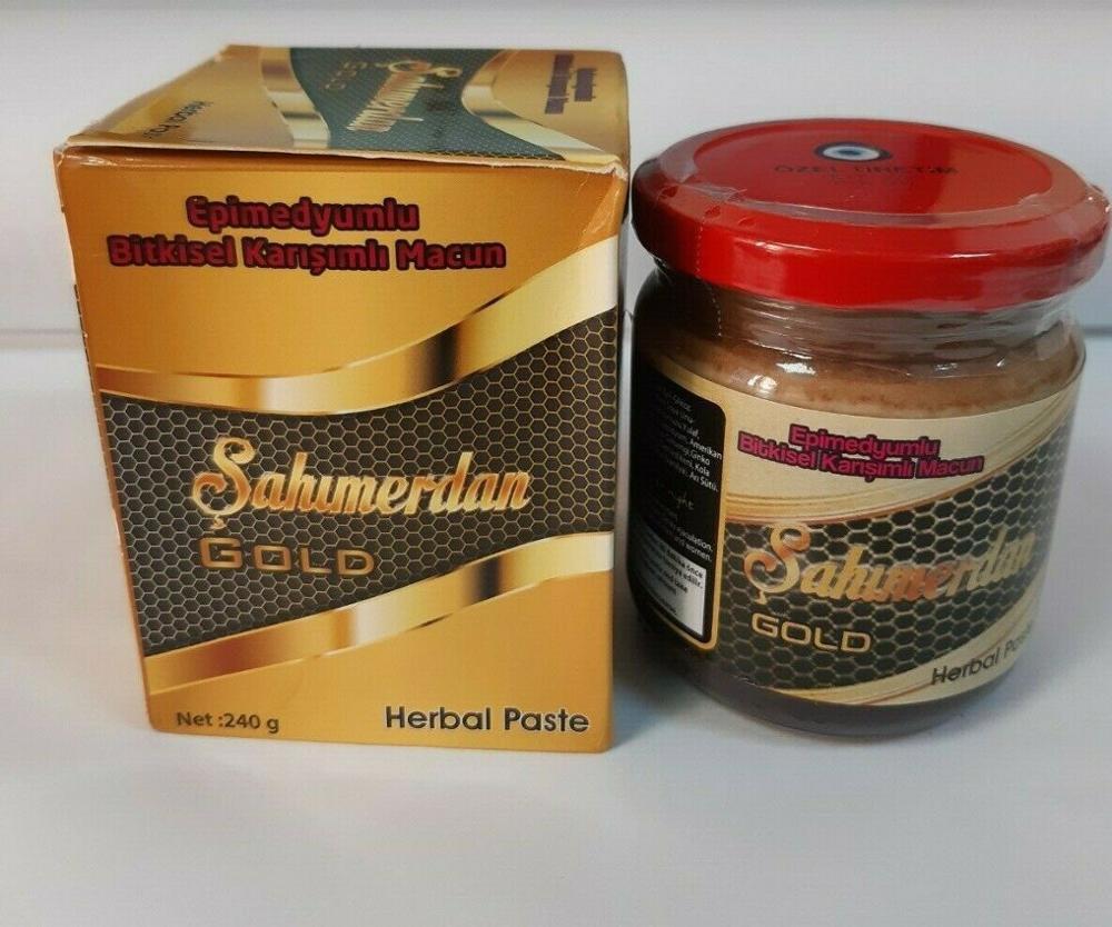 *NEW* SAHIMERDAN GOLD Epimedium Ginseng Herbal Paste Afrodizyak Natural 240 Gr