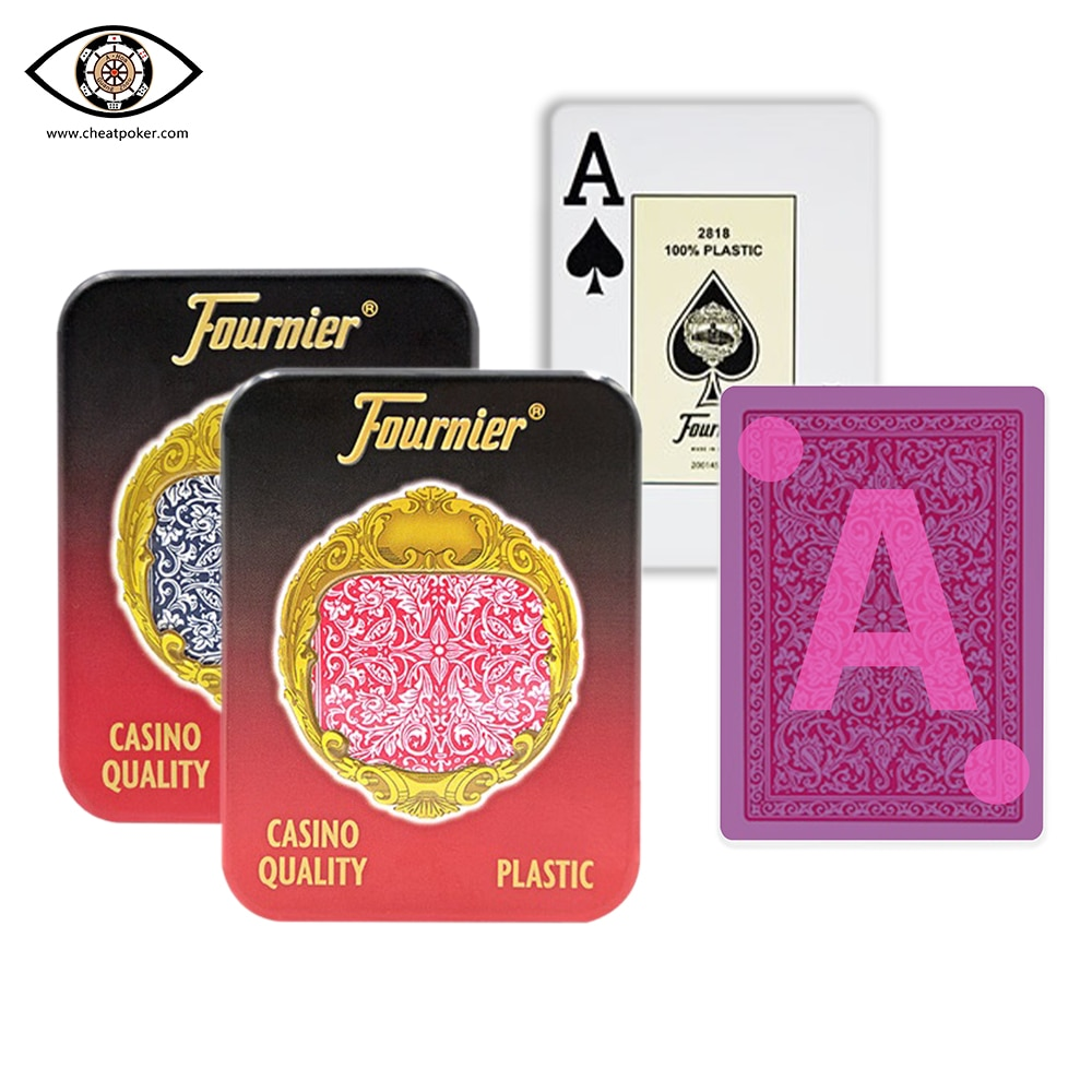 Marked playing cards for contact lenses,Fournier Plastic infrared marked poker,magic tricks decks, anti cheat poker недорого
