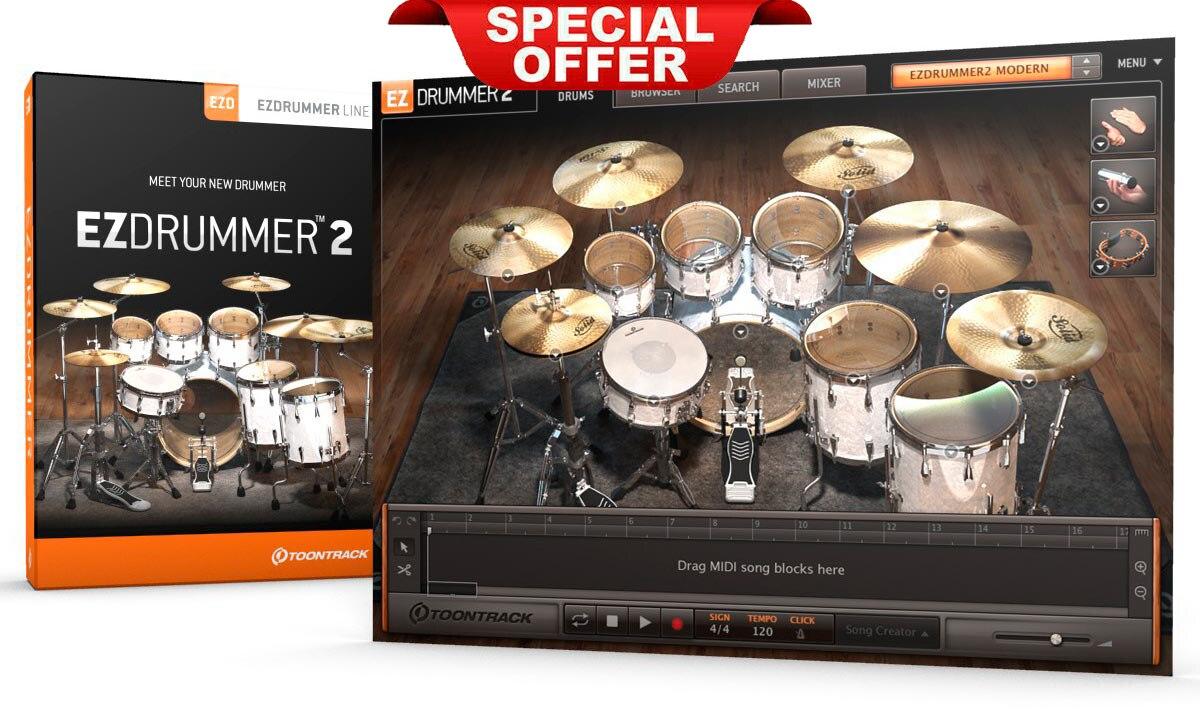 EZdrummer 2 Toontrack Last Version VSTi-VST3-AAX For Win Make Music Vst