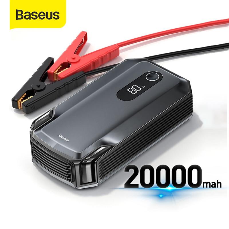 Автомобильное пусковое устройство Baseus 20000 мАч, внешний аккумулятор а 12 В, портативное зарядное устройство, автомобильный аварийный бустер, ...