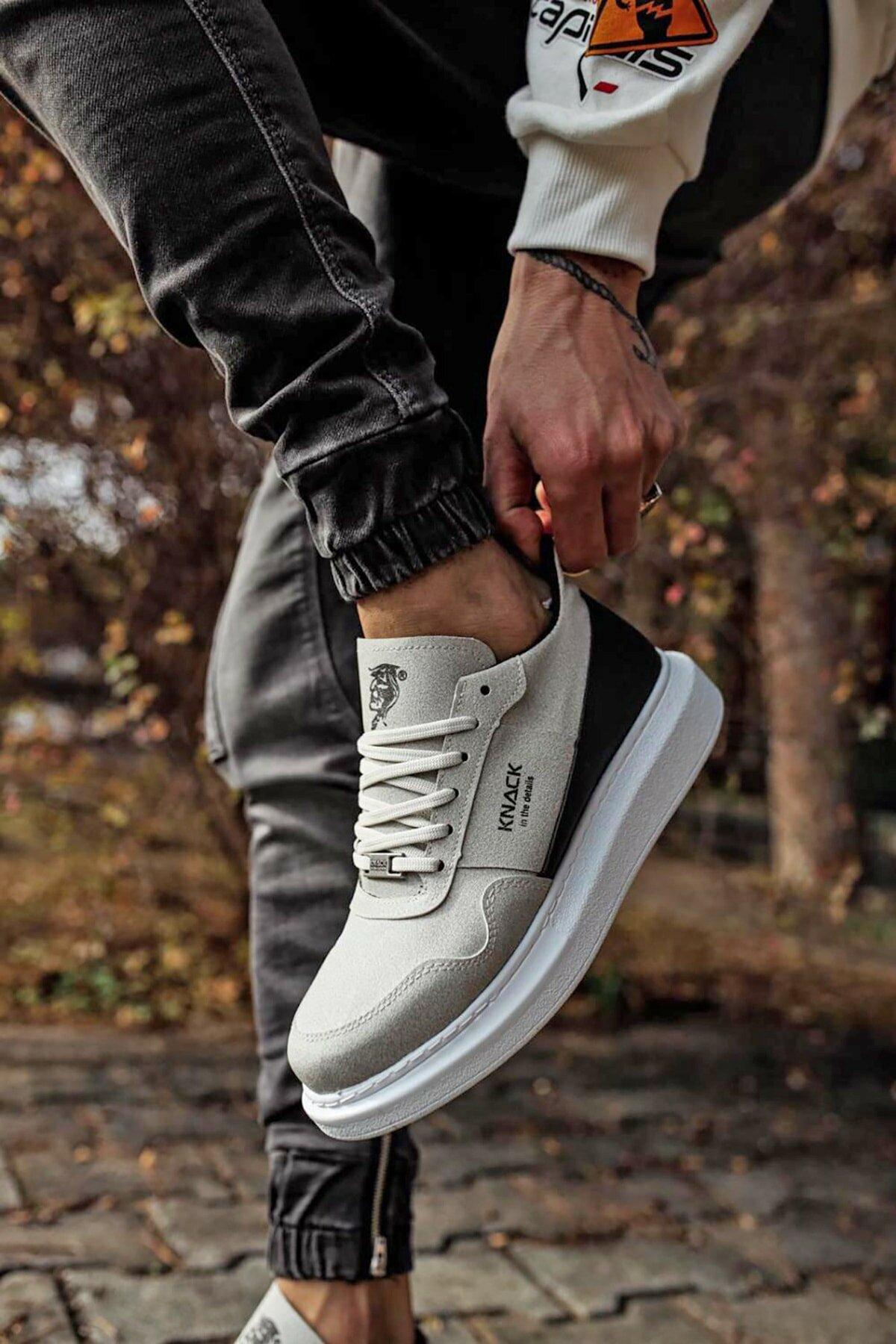 Stepsup مخزن عادية حجر الجلد المدبوغ أحذية رياضية للرجال