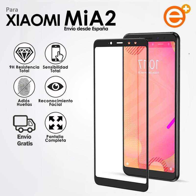 Protector Pantalla de Cristal Templado Completa para Xiaomi Mi A2 Mi 6X Protección de vidrio de Seguridad para Smartphone