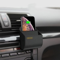 Беспроводное автомобильное зарядное устройство 10 Вт Qi, подставка для быстрой зарядки, держатель, коробка для хранения, держатель для телефо...