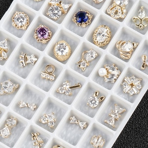 Nail Art Diamond Jewelry Super Flash Mixed Set Luxury Decoration Jewelry Sets Necklace Earrings Bracelet Brooches Jewelry women