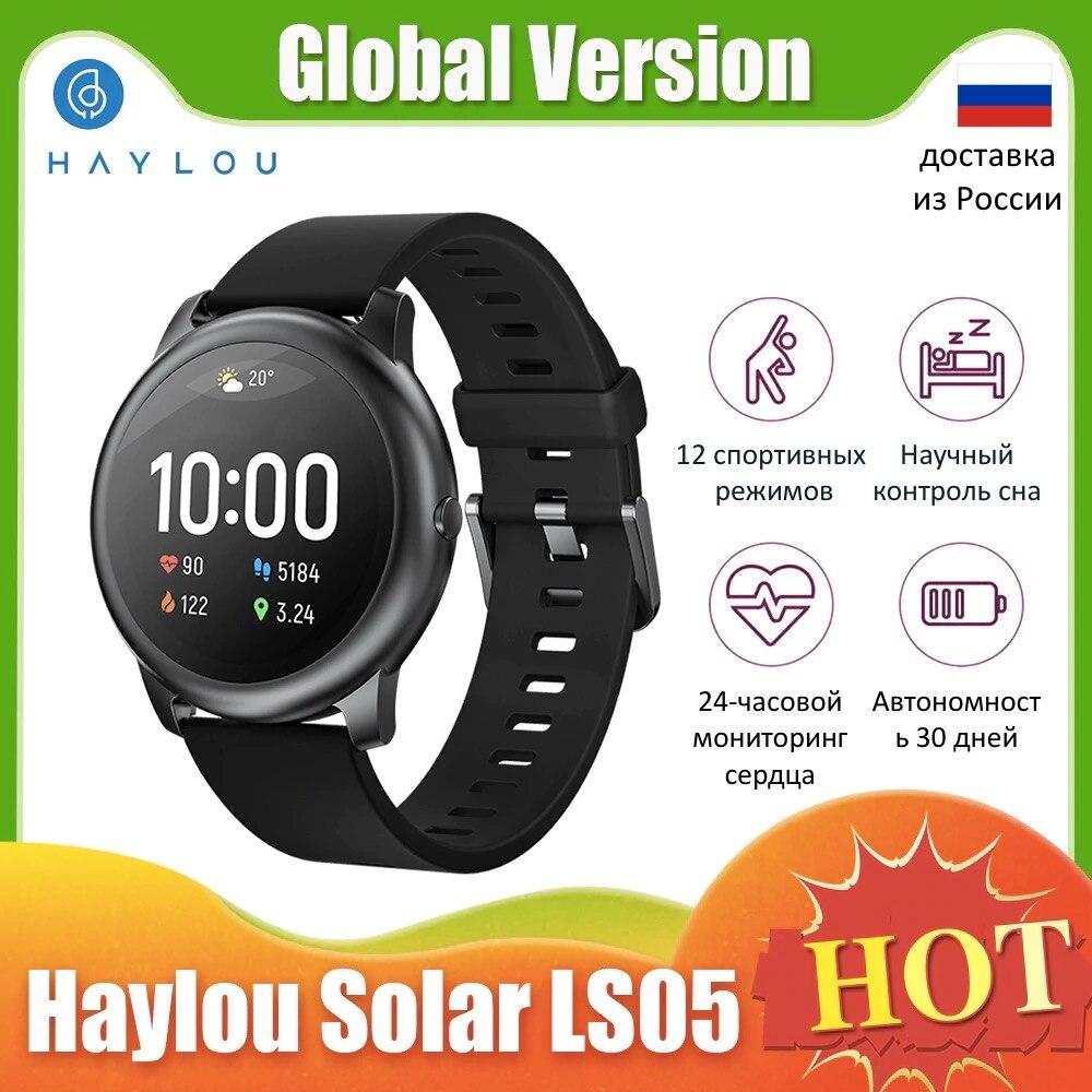 XiaomiYoupin Haylou Solar LS05 SmartWatch Sports Metal Heart Rate Monitor de Sono IP68 iOS Android Global Versão À Prova D Água