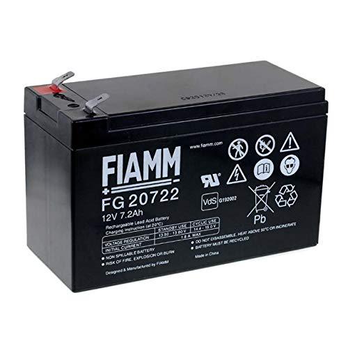 FIAMM FG 20722 Recambio de Batería para SAI APC Back-UPS CS 350,12V 7.2Ah,batería 12v recargable,batería plomo 12v,batería plomo