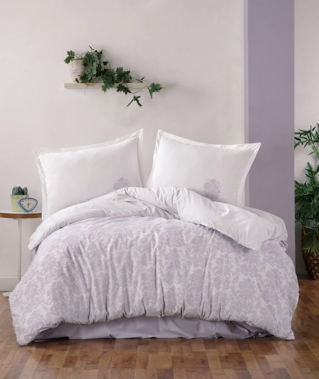 Fida 100% القطن طقم سرير عالي الجودة أرجواني مزدوج الملك سرير مزدوج لحاف السرير مجموعة فاخرة الحديثة رومانسية أغطية سرير duv