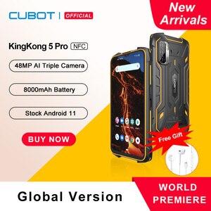 Cubot KingKong 5 Pro Защищенный смартфон 2021 Android 11 Водонепроницаемый IP68/IP69K/MIL-STD-810 Большая батарея 8000мАч 4ГБ+64ГБ 48МП Тройная камера Глобальная 4G LTE Две SIM-карты NFC GPS/ГЛОНАСС/Beidou/Galileo OTG