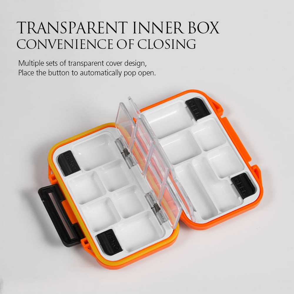 Plastic Fishing Tackle Boxes Multifunction Fishing Box Waterproof Accessories Hooks Minnows Tool Spinner Lure Bait Boxes Storage enlarge