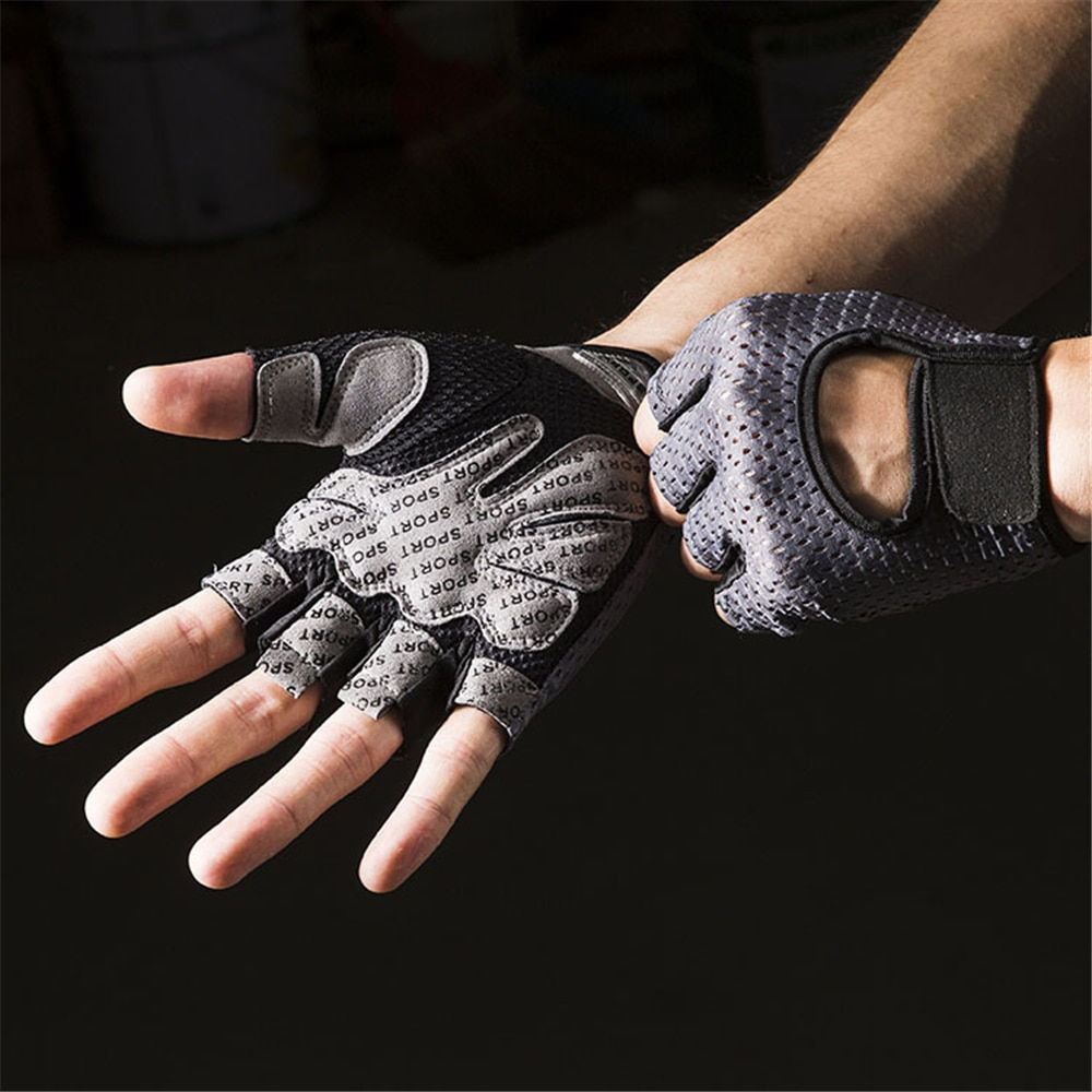 Summer Bicycle Gloves Short Sunscreen Fingerless Motorcycle Gloves Shockproof MTB Road Bike Cycling