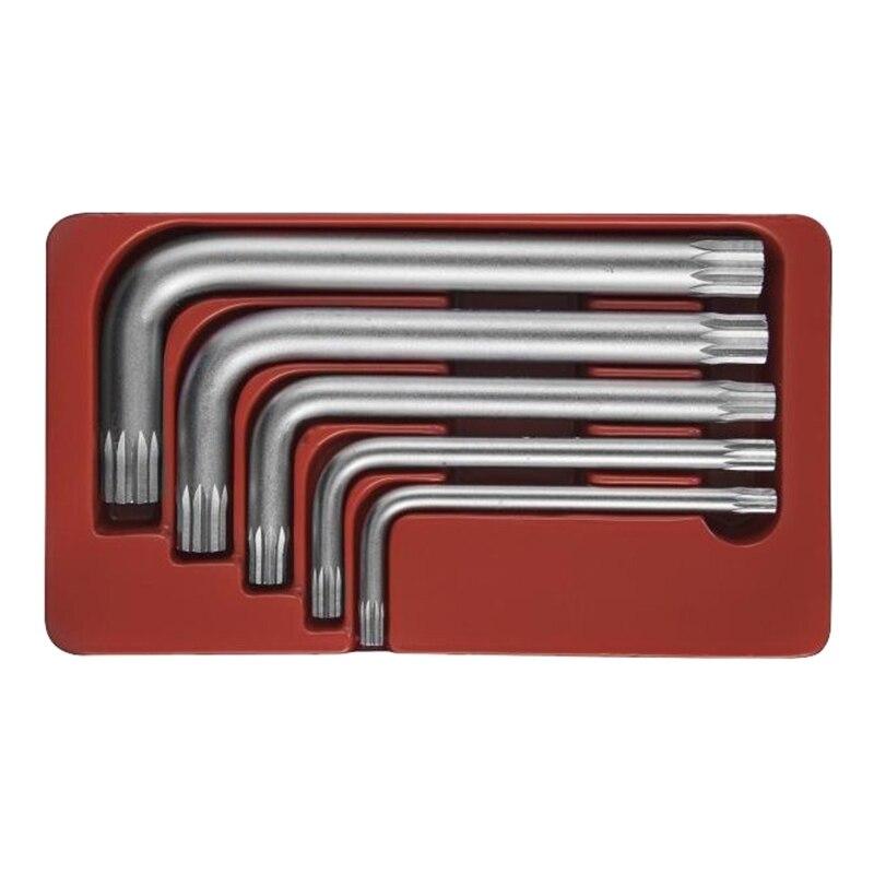 Набор ключей имбусовых Jonnesway H15M105S (5 предметов в наборе; ключи торцевые SPLINE, М5-М12)