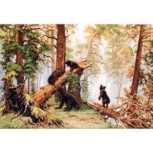 Juego B452 para bordado «morning in pine Wood» 53,5*35,5 cm, luca-s