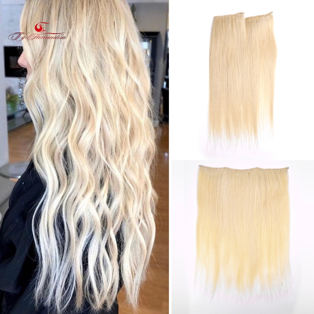 New Arrival Halo Hair Extensions 100% Human Hair Bundle For Women Fish Line Double Drawn Weft Ombre Color Flip In Hair Extension