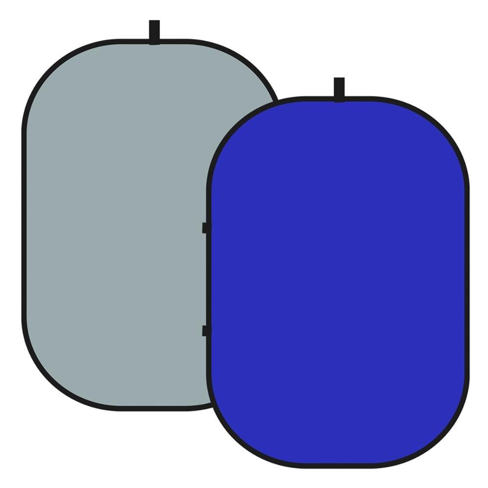 Neewer-شاشة Chromakey 2 في 1 ، خلفية مزدوجة الجوانب ، ملتوية ، خلفية رمادية/زرقاء ، مع سحاب ، حقيبة حمل