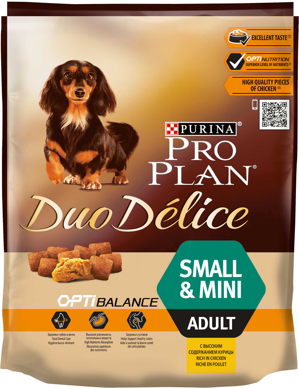 Pro Plan Duo Delice Kleine & Mini для взрослых собак мелких и карликовых пород, 2,5 кг