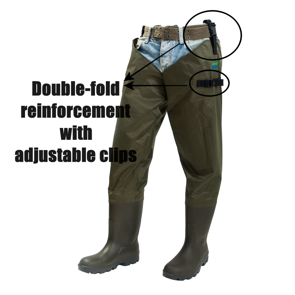 Fly Fishing Thigh Waders Breathable Waterproof Cold Resistant Included Fisherman Boot River Wader Pants for Men and Women enlarge