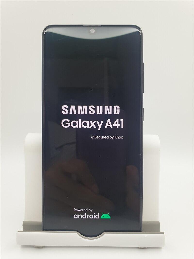 Samsung Galaxy A41 A415F завод разблокированный сотовый телефон 6,1 дюйм 4GB 64GB смартфон Восьмиядерный 3500 мАч Android мобильный телефон