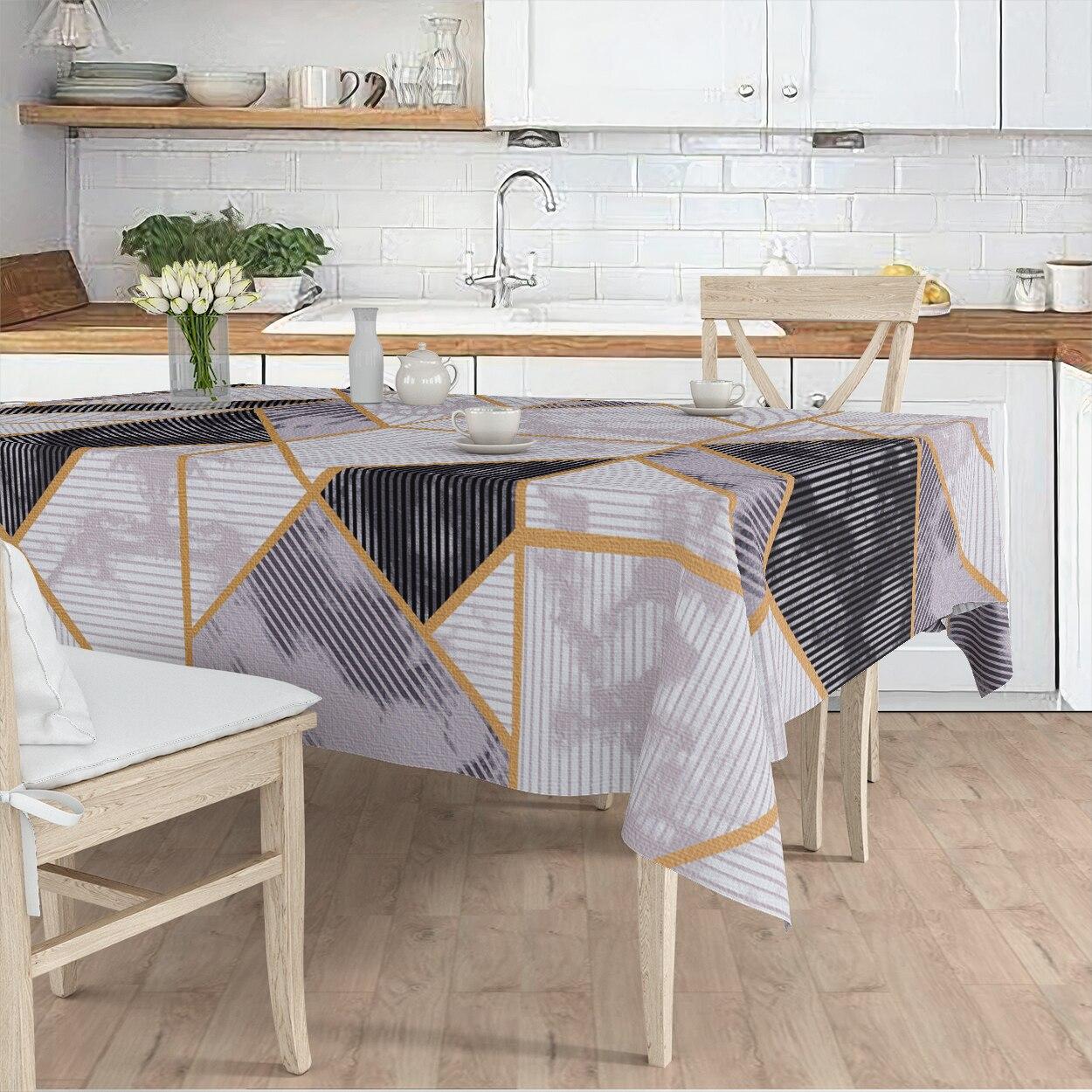 مفرش المائدة غرفة المعيشة المطبخ رمادي هندسي الرخام منقوشة مايكرو غطاء من القماش عداء نمط شحن مجاني
