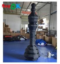 Pièces déchecs gonflables géantes déchecs gonflables de roi déchecs gonflables de 2mH avec la lumière de 16 LED à couleur changeante