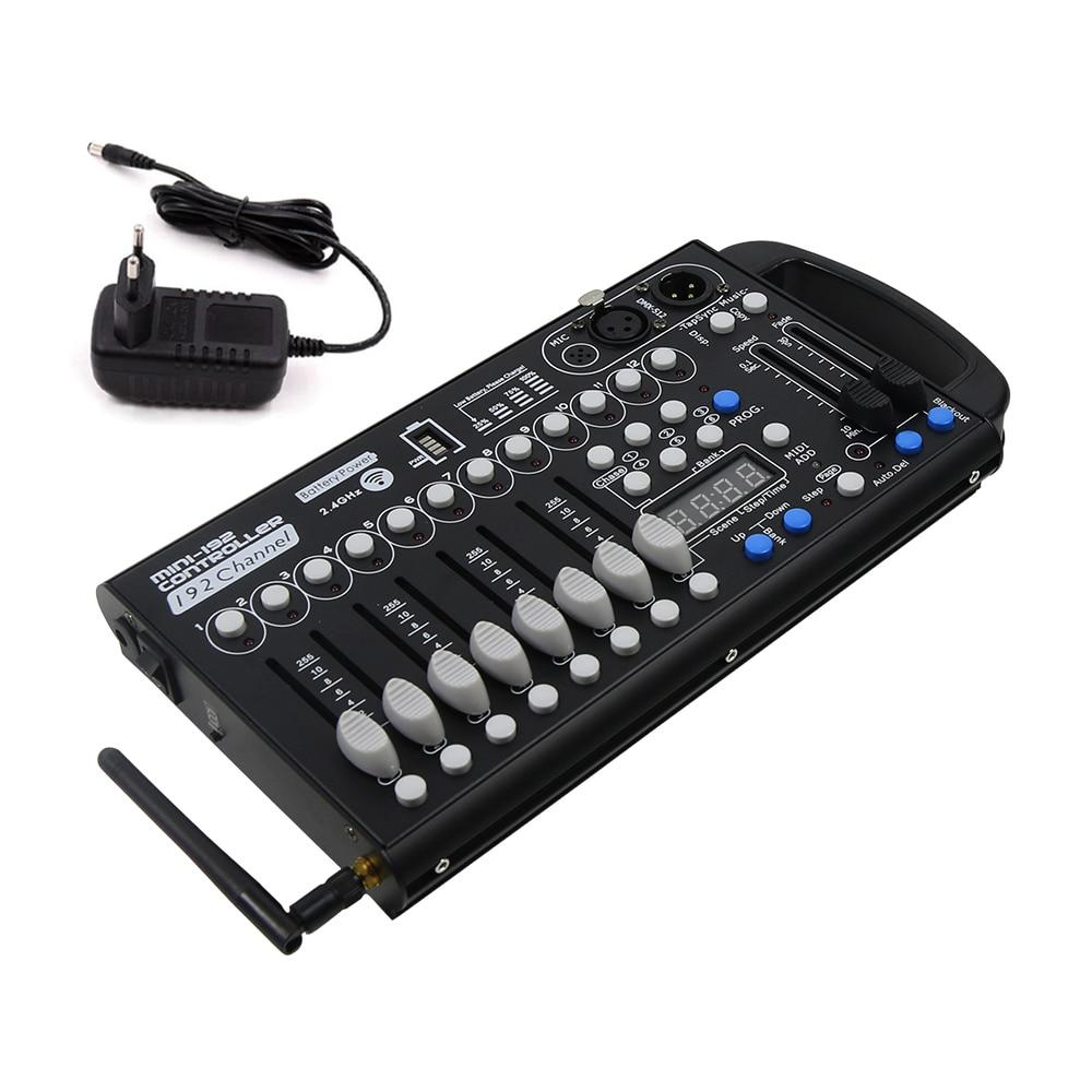 قابلة للشحن 192 قناة DMX وحدة بنيت في بطارية لاسلكية ديسكو ضوء تحكم ل DJ ضوء المرحلة KTV بار حزب الرئيسية