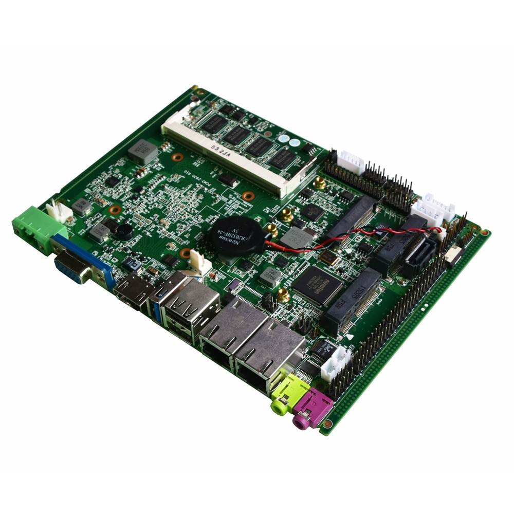 Fanless itx motherboard with intel celeron j1900 CPU 4G ram 1xHDMI 1xVGA industrial mainboard