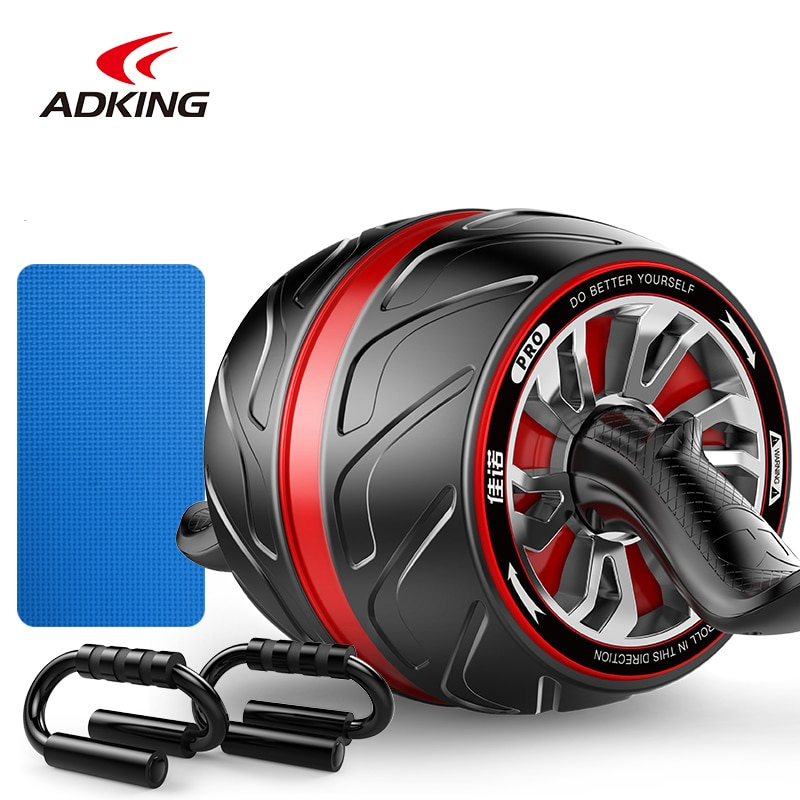 ADKING Abnomial wheel 1.6kg with mat Ab Rolle No Noise  Exercise Gym Fitness Equipment Shape Training For Arm Waist